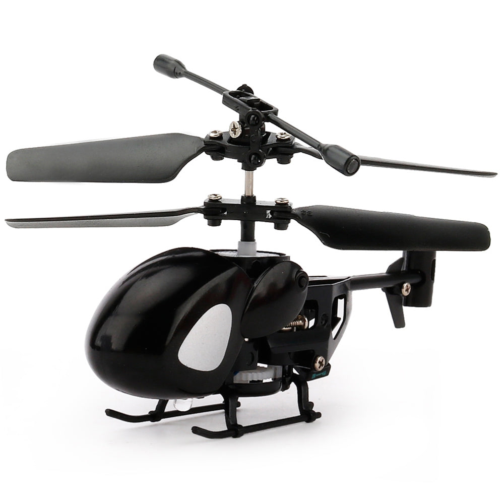 Mini Remote Helicopter Black BLACK RC Helicopters