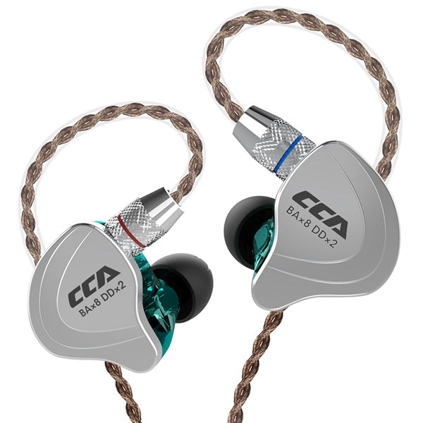 CCA C10 4BA+1DD Hybrid In-ear Earphone HiFi Sports Earbuds with Detachable Upgraded Cable