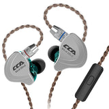 CCA C10 4BA+1DD Hybrid In-ear Earphone HiFi Sports Earbuds with Detachable Upgraded Cable DARK TURQUOISE WITH MIC Earphones & Headphones
