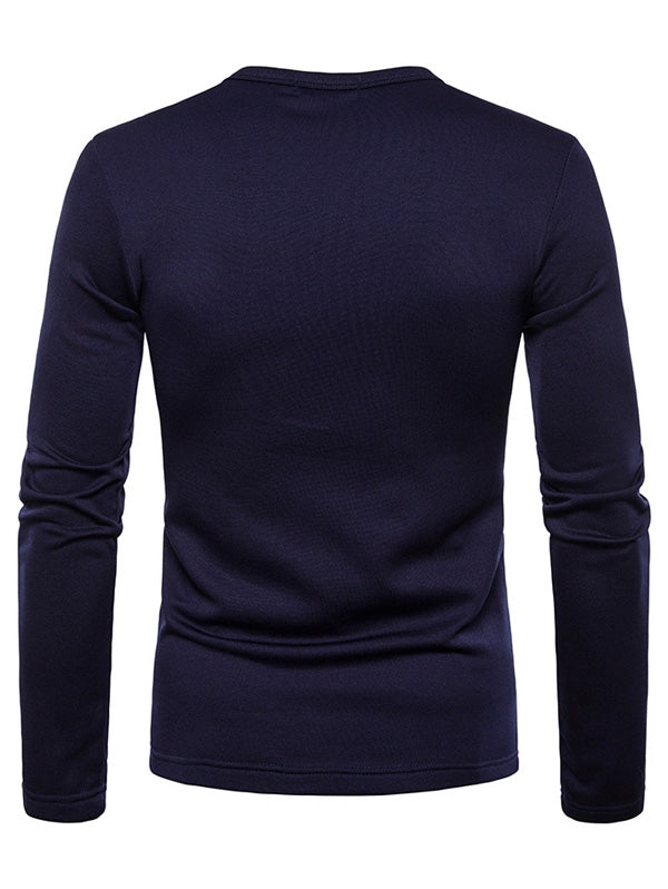 Basic Solid Color Fleece T-shirt