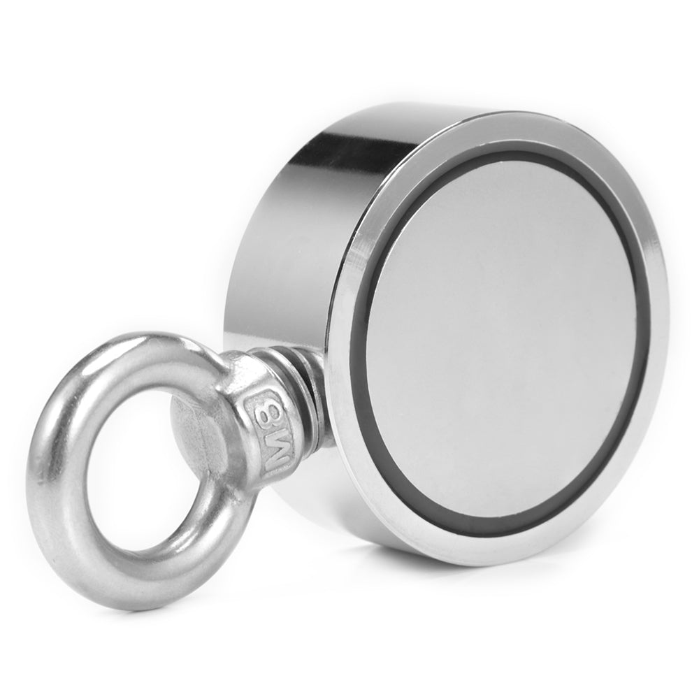 Super Powerful Double Sided Round Neodymium Fishing Magnet SILVER LNM136-3 Hand Tools