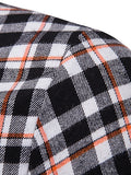Contrast Tartan Print Casual Long Sleeve Shirt