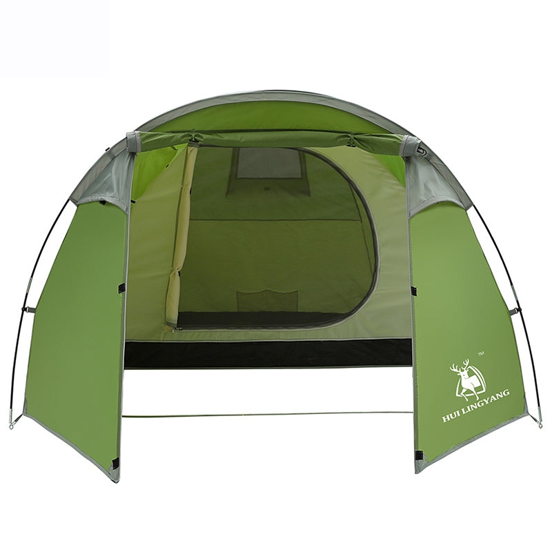 HUILINGYANG One-room and One-bedroom Double-layer Rain-proof Tunnel Tent