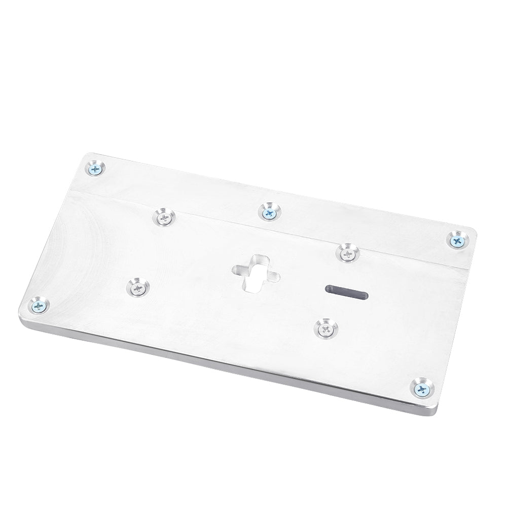 Aluminum Router Table Insert Plate with Fixing Screws for Woodworking Benches SILVER Hand Tools
