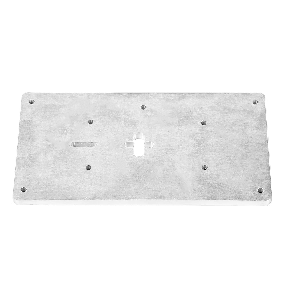 Aluminum Router Table Insert Plate with Fixing Screws for Woodworking Benches