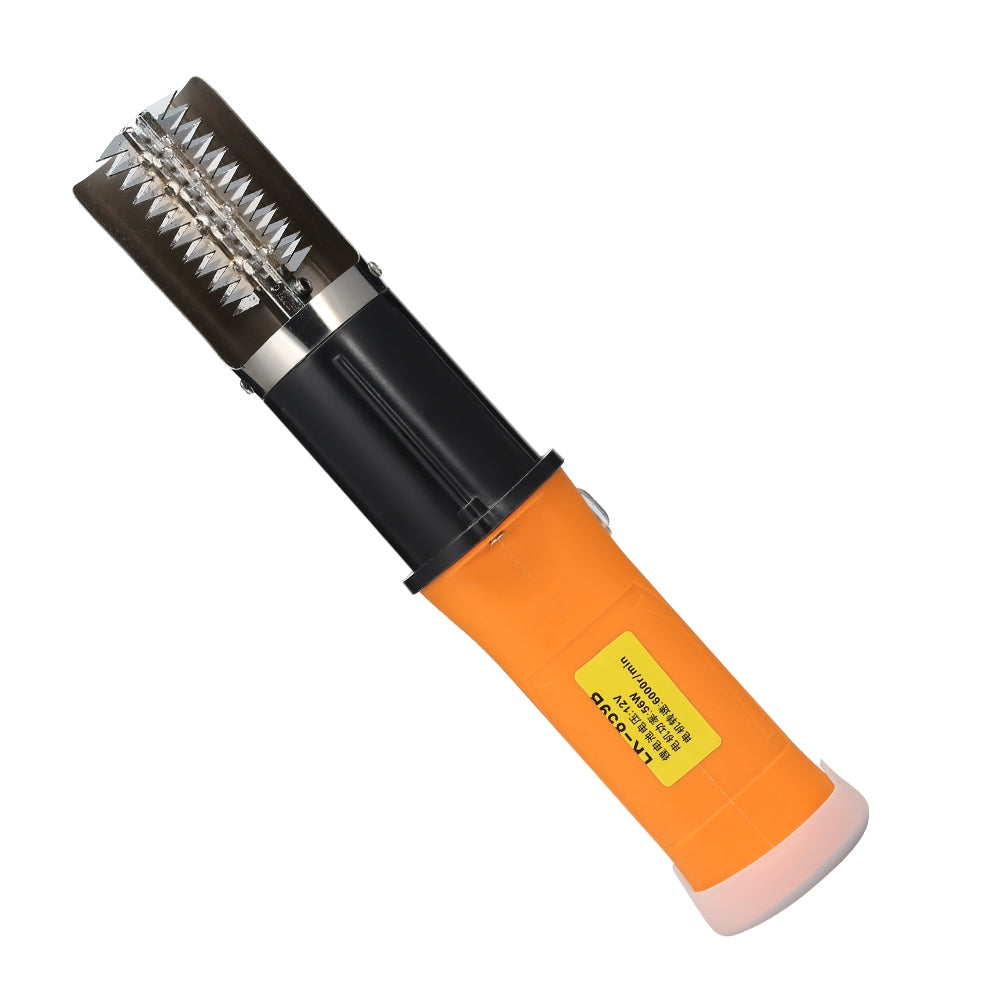 LK-859B 12V Rechargeable Waterproof Electric Fish Scale Brush YELLOW US PLUG (2-PIN) Power Tools