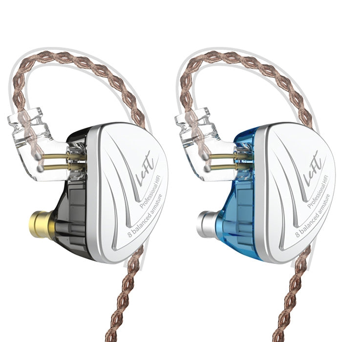 KZ AS16 Acoustic Technology / HiFi Moving Iron / High-Frequency Sensitivity Wired Earphone SKY BLUE WITH LINE CONTROL Earphones & Headphones