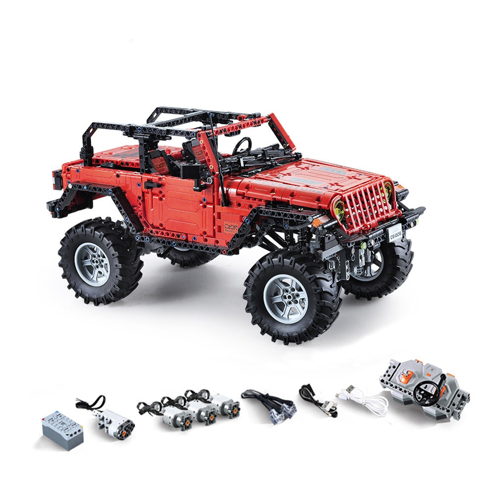 CADA C61006 Adventurer Double-door Vehicle RC Block Toy 1941PCS RED Blocks