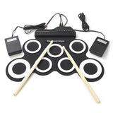 iWord G3002 Portable Hand Roll Silicone Electronic Drum WHITE Drum