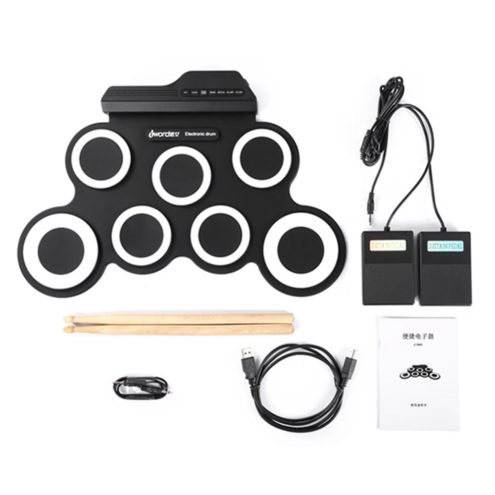 iWord G3002 Portable Hand Roll Silicone Electronic Drum