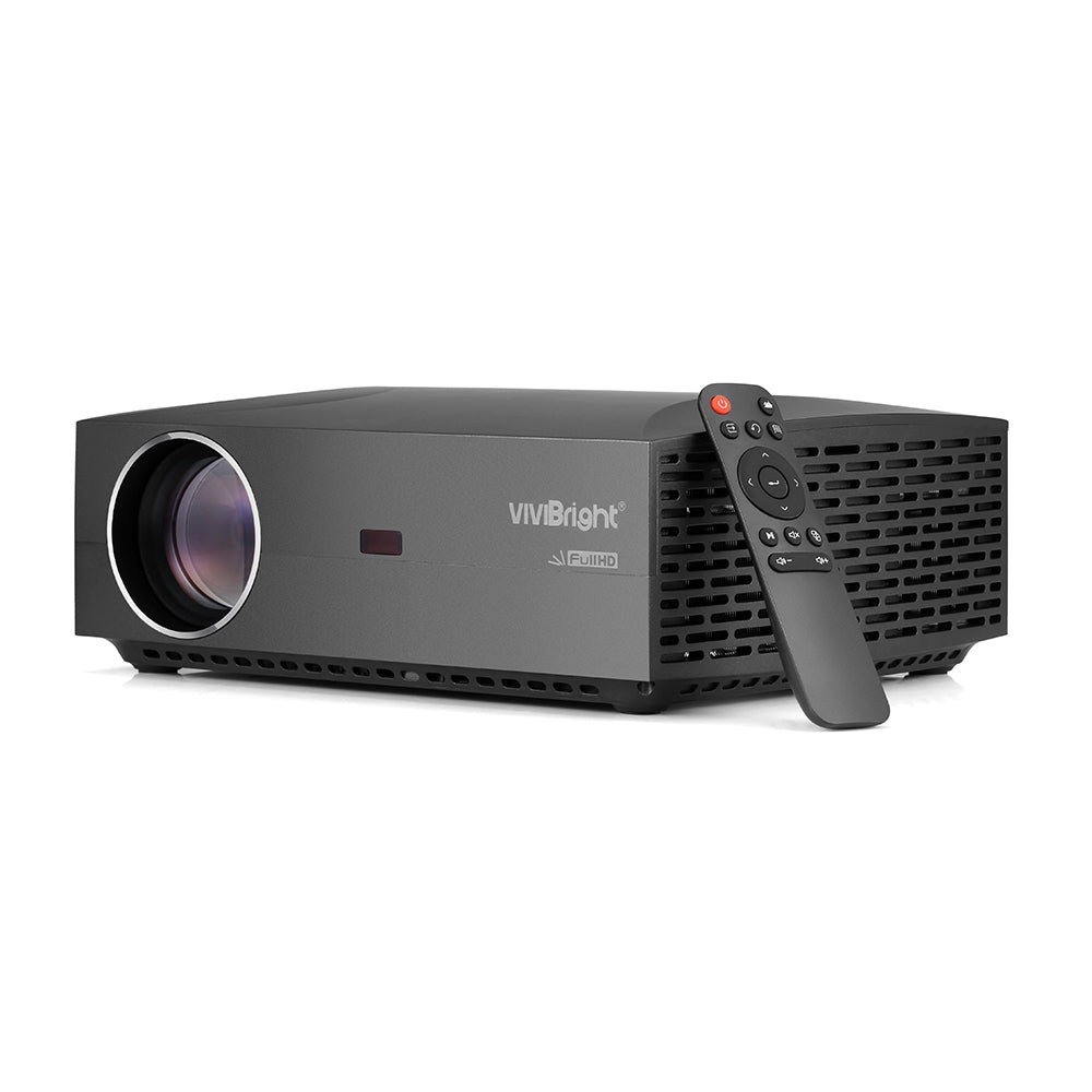 VIVIBRIGHT F30 LCD Projector Home Entertainment Commercial FHD 1920 x 1080P 4200 Lumens BLACK US PLUG Projectors