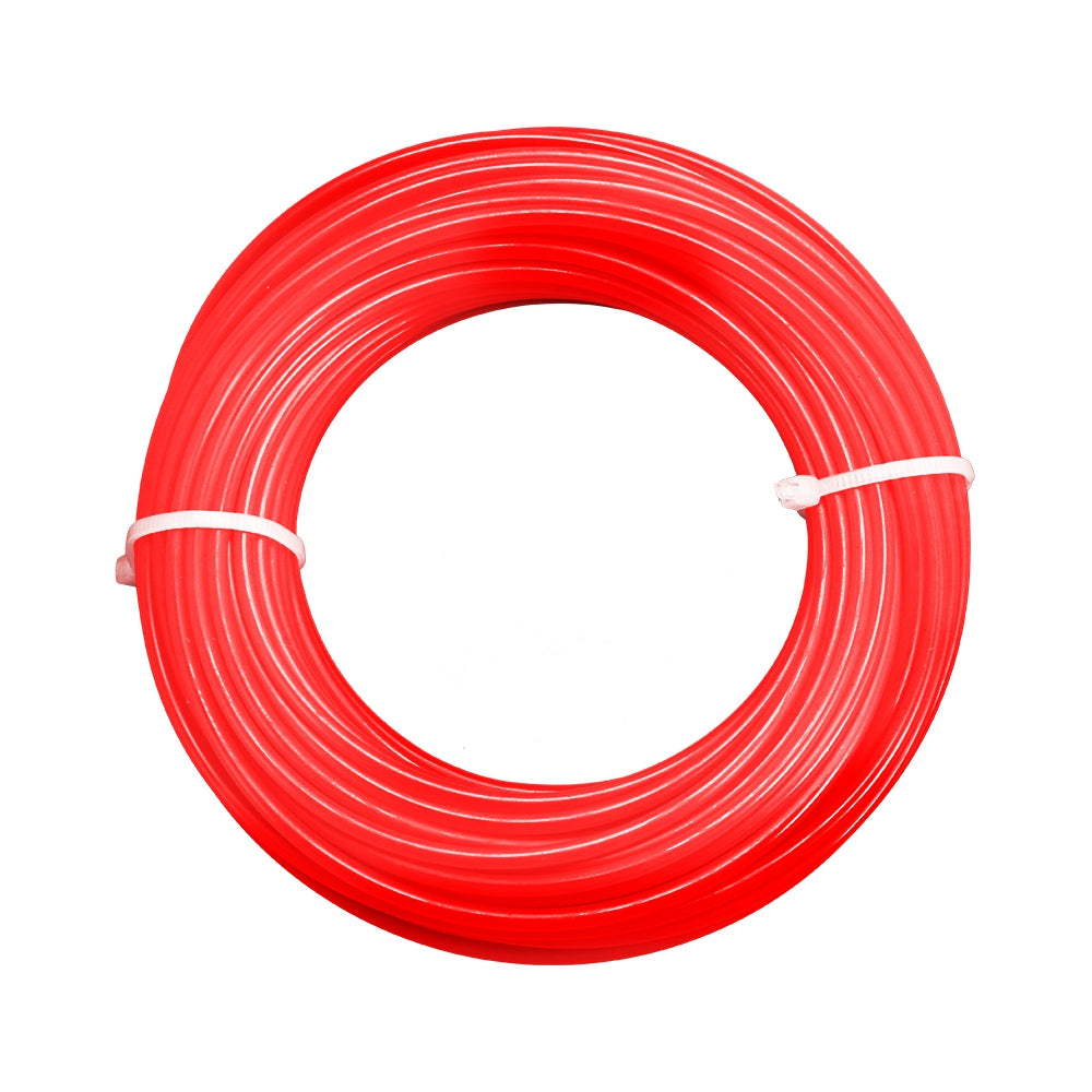 2.4mm 15m Nylon Trimmer Line Lawn Mower Rope Garden Tools Parts RED Hand Tools
