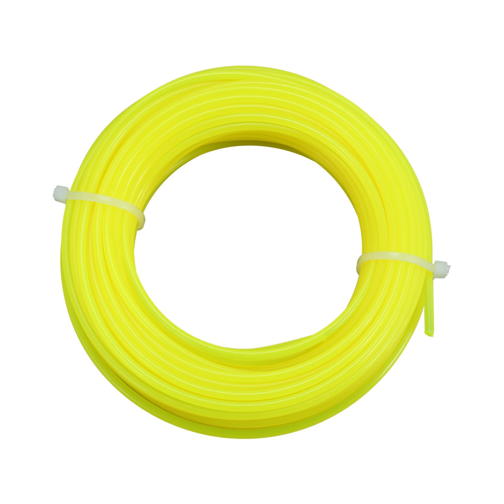 2.4mm 15m Nylon Trimmer Line Lawn Mower Rope Garden Tools Parts YELLOW Hand Tools