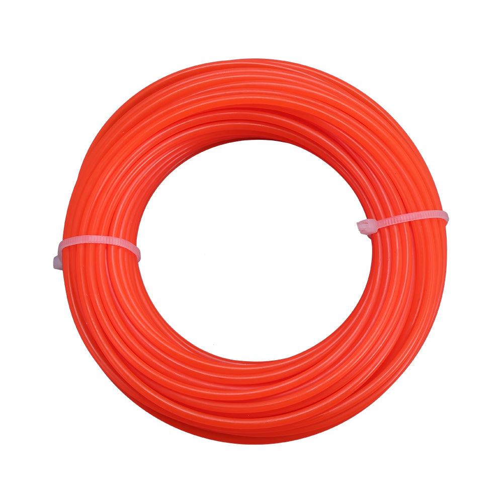 2.4mm 15m Nylon Trimmer Line Lawn Mower Rope Garden Tools Parts ORANGE Hand Tools