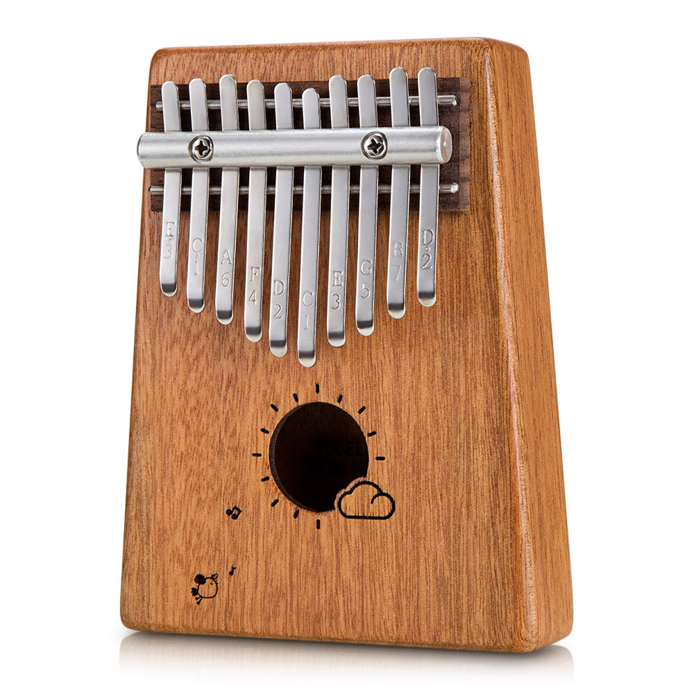 HK01 10 Tone Wooden Kalimba Thumb Piano Portable Finger Musical Instrument BURLYWOOD Other Musical Instruments