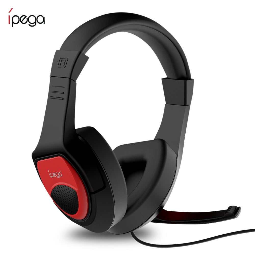 iPEGA PG - R001 Adjustable Game Headset 3.5mm for Switch / PS4 / PC BLACK Earphones & Headphones