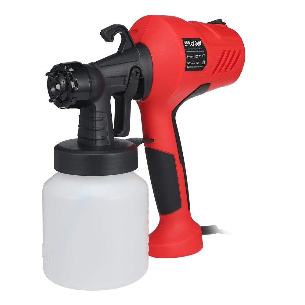 GT - 006 - 350 800ml 400W Container Electric Paint Sprayer Gun Three Nozzle Pattern RED EU PLUG Power Tools