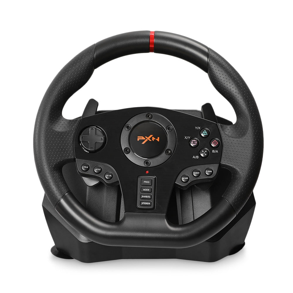PXN PXN - V900 Gamepad Controller Steering Wheel PC Mobile Racing Video Game Vibration BLACK Handheld Game Players