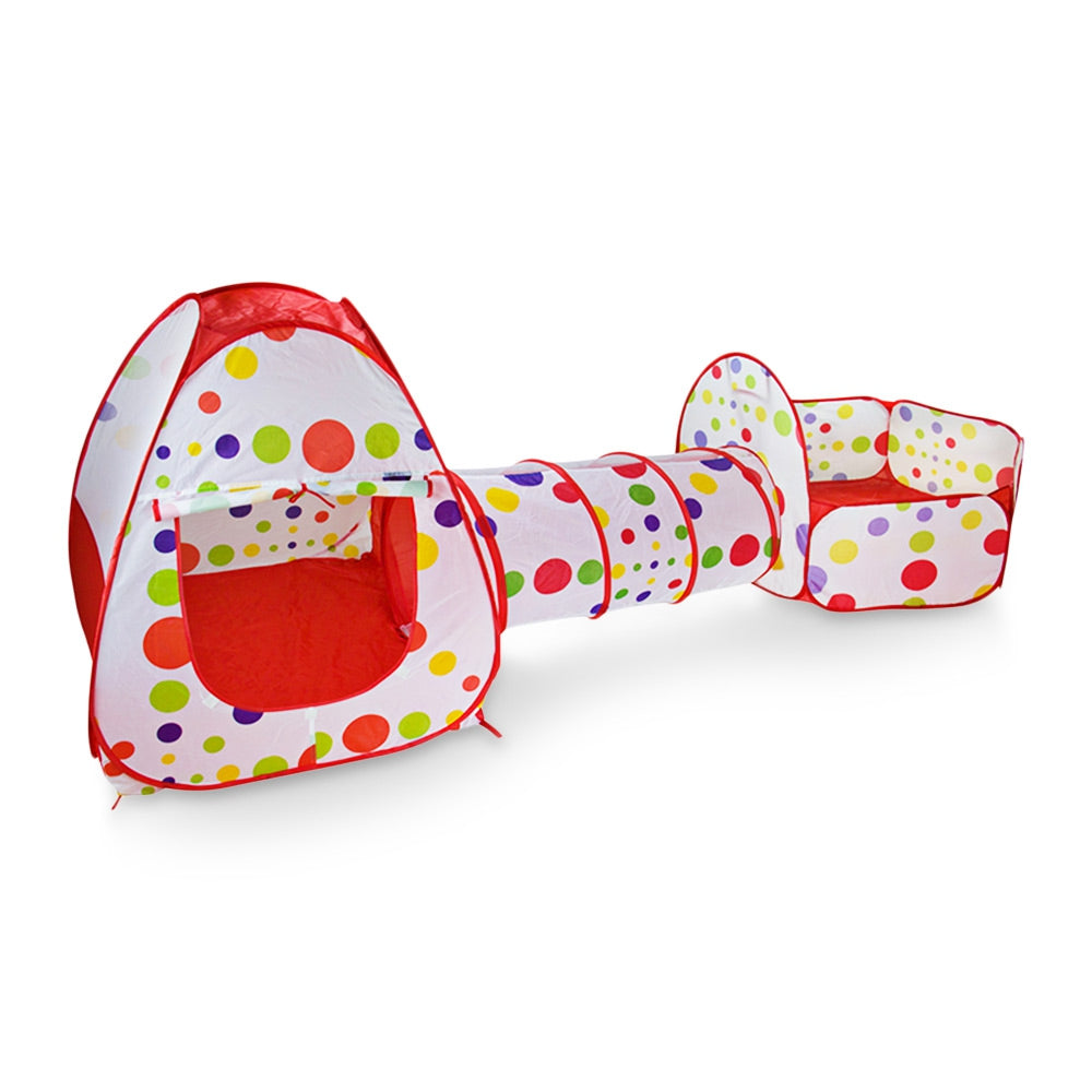 Kids Play Tent 3-in-1 Foldable Crawl Tunnel Combo Playhouse
