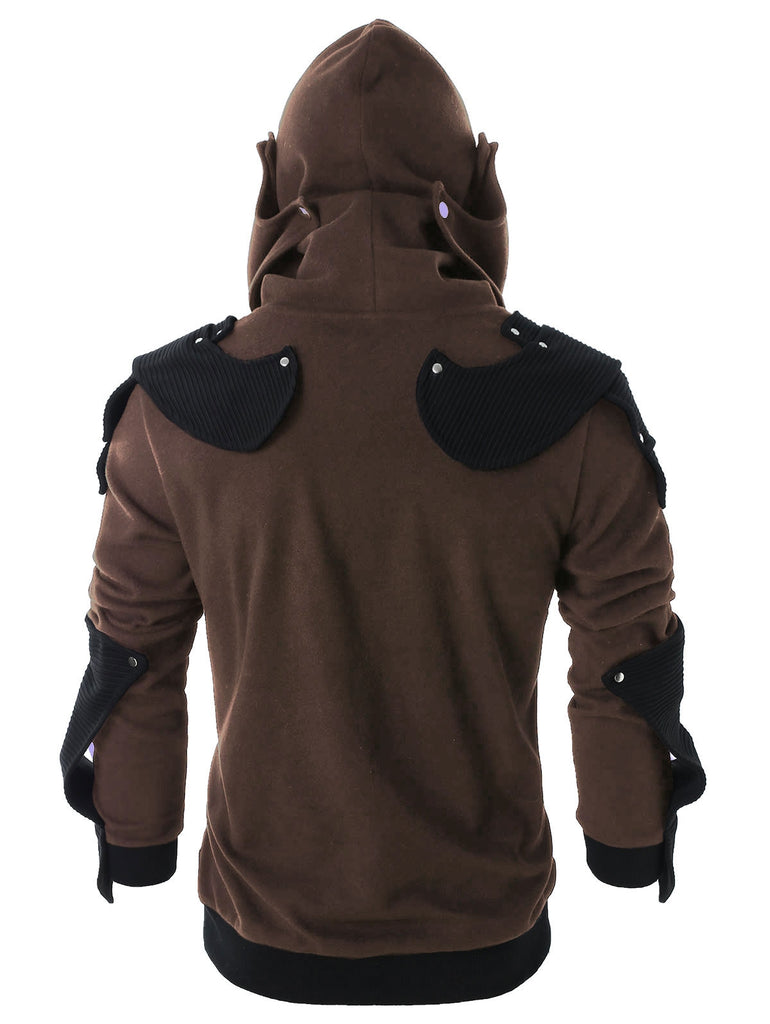 Rivet Long Sleeve Drawstring Pullover Hoodie Men's Hoodies & Sweatshirts ARMY GREEN S