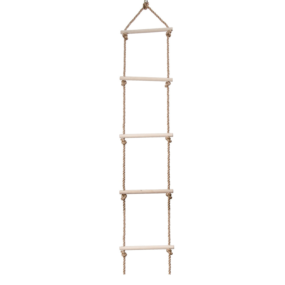Kids Climbing Rope Hang Ladder Swing Five Rungs Sports Toys Exercise Equipment for Children BURLYWOOD Action & Toy Figures