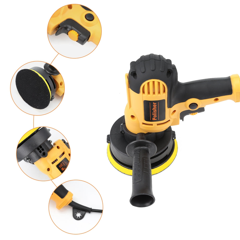 220V 700W Electric Car Polisher Machine Adjustable Speed Sanding Waxing Tools SAFFRON TYPE 2 Power Tools
