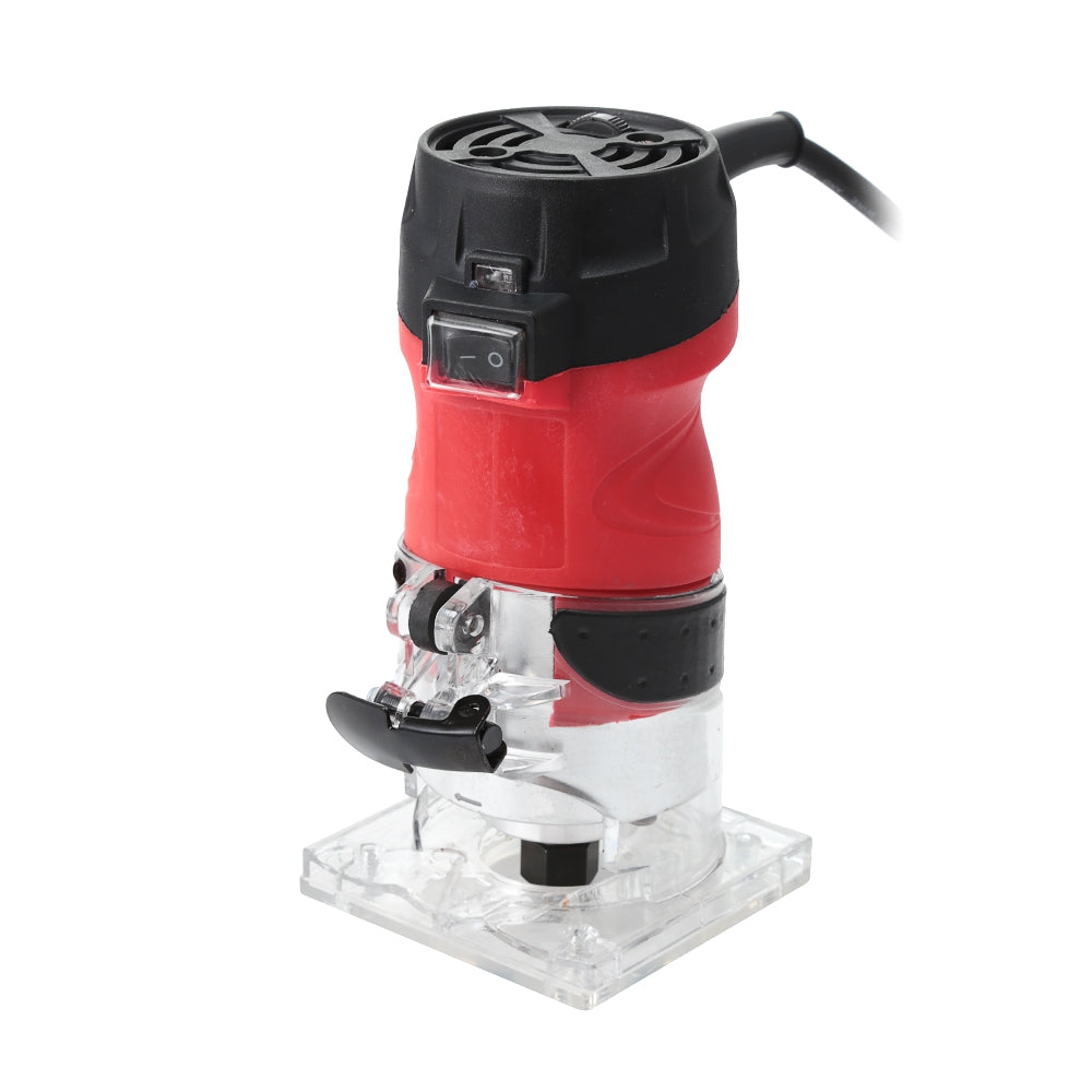 2200W Electric Hand Trimmer Router Wood Carving Machine 6 Speed Setting ROSSO RED EU PLUG Power Tools