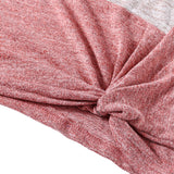 Bat Sleeve Round Neck Loose Color Splice Women T-shirt Women's T-Shirts MULTI-A XL
