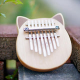Vvave 8 Key Cat Kalimba Birch Material Thumb Piano Musical Instrument with Learning Book Tune Hammer from Xiaomi youpin