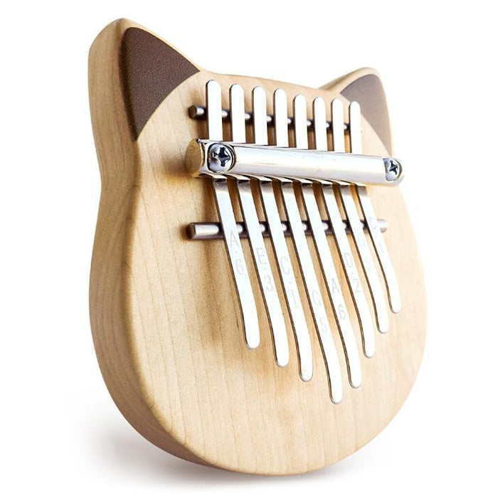 Vvave 8 Key Cat Kalimba Birch Material Thumb Piano Musical Instrument with Learning Book Tune Hammer from Xiaomi youpin BURLYWOOD Musical Instruments