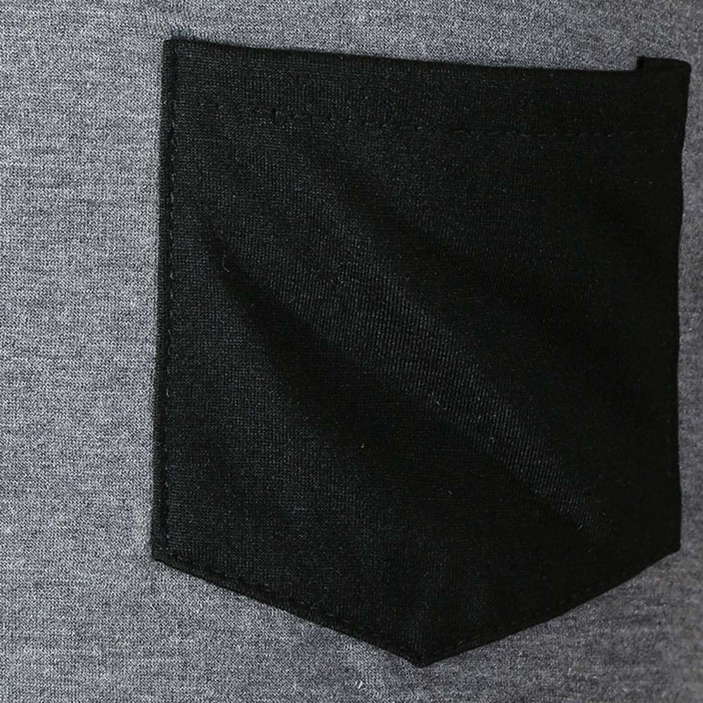 Pleated Sleeve Color Blocking Spliced T-shirt Men's Shirts BLACK 2XL