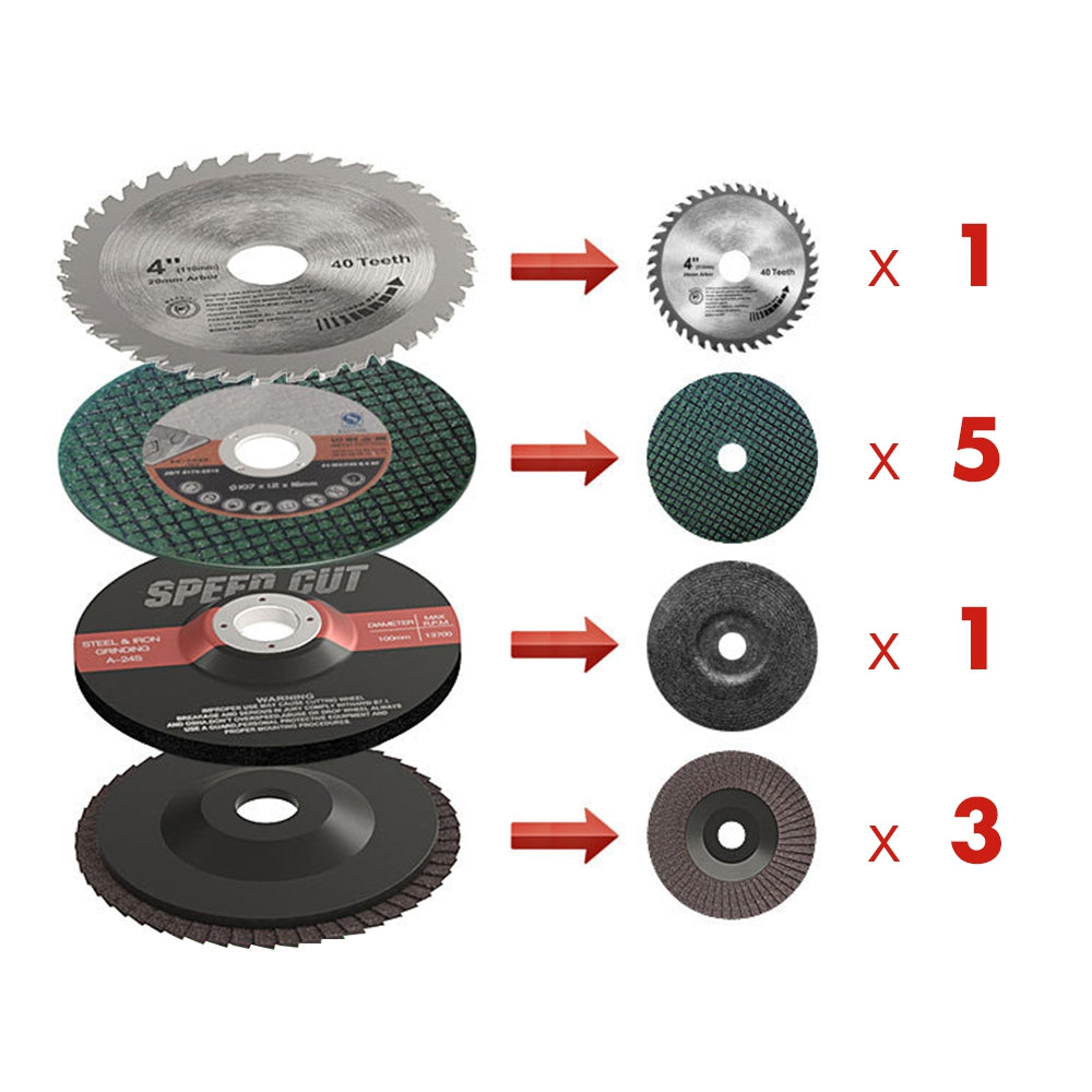"10pcs 4"" Grinding Discs Sanding Polishing Cutting Wheels for Angle Grinder MULTI Hand Tools"