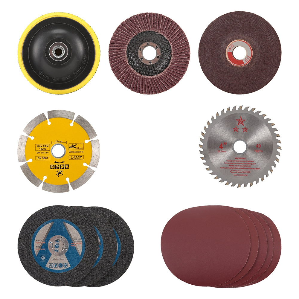 13pcs Conversion Tools Grinding Discs Sanding Polishing Cutting Wheels for Angle Grinder MULTI Hand Tools