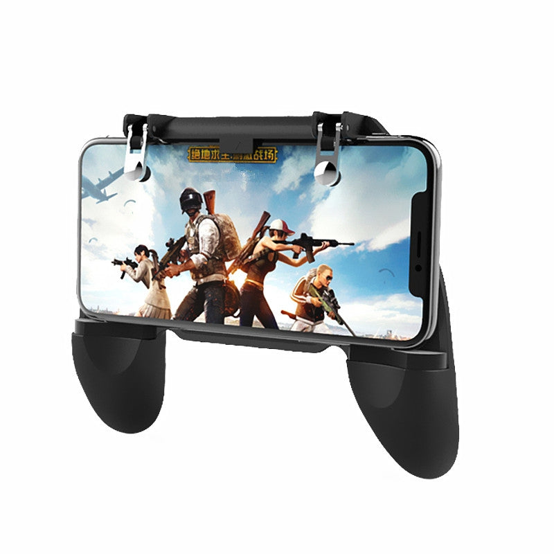 Mobile Game Controller Cellphone Fire Button Trigger Gaming Grip with Joystick BLACK Game Controllers