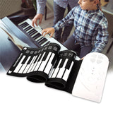 49 Key Folding Piano with Horn SILVER Other Musical Instruments
