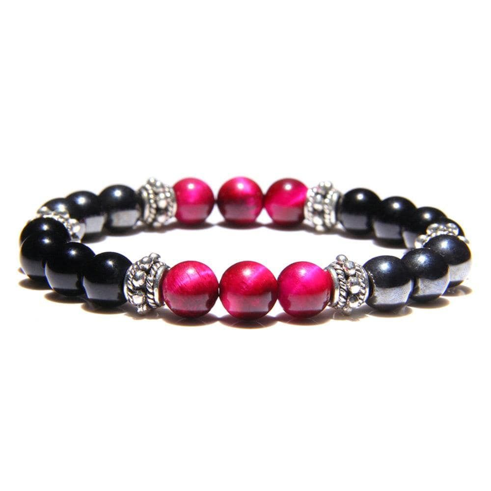Blue Tiger Eye Hematite Beaded Bracelets Men Natural Stone Bracelets for Women Men Fashion