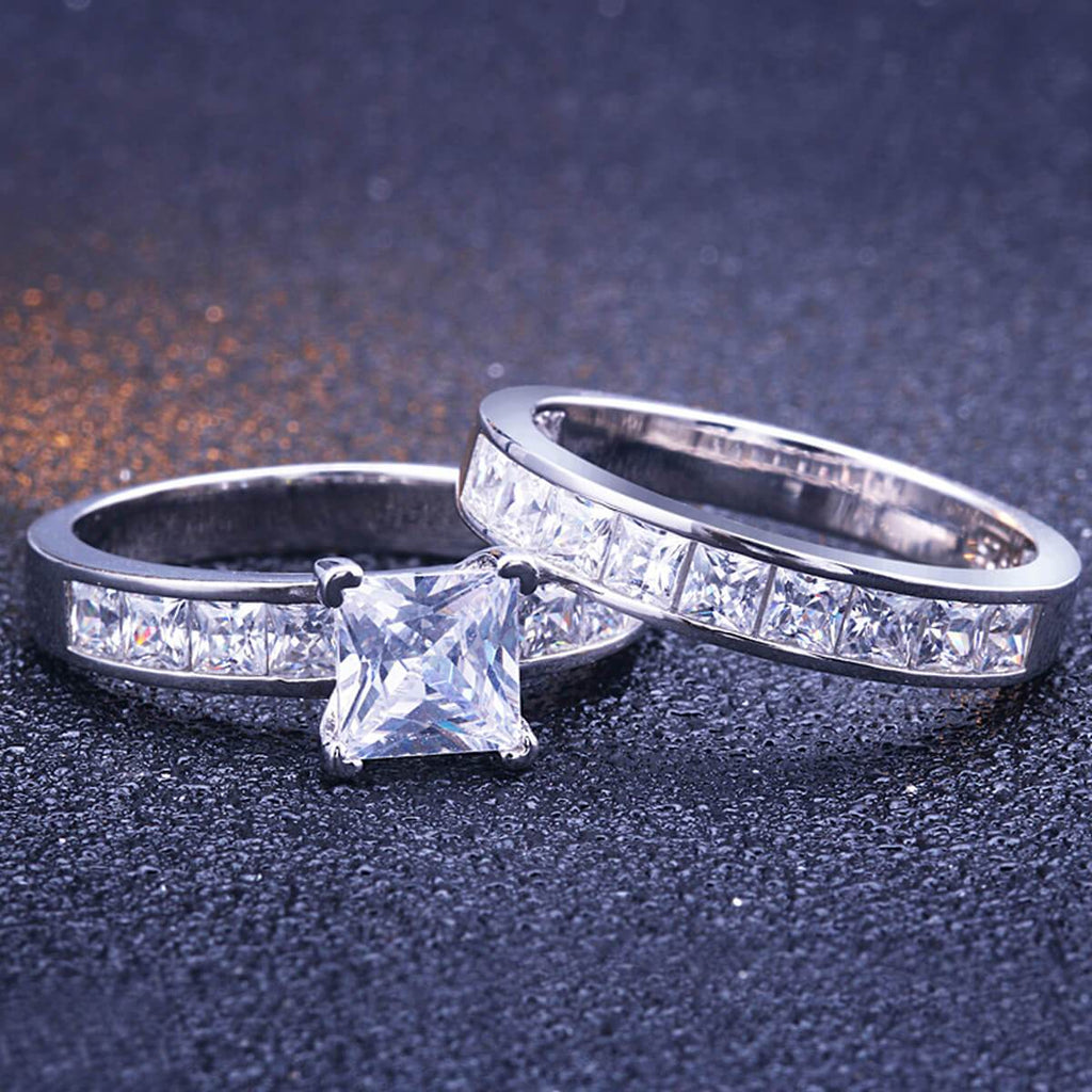 Anniversary Rings For Men Women Wedding Bands Engagement Promise Set
