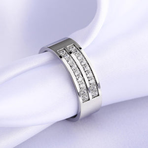 Wedding Ring Set Sterling Silver Stainless Steel Rings For Engagement Promise