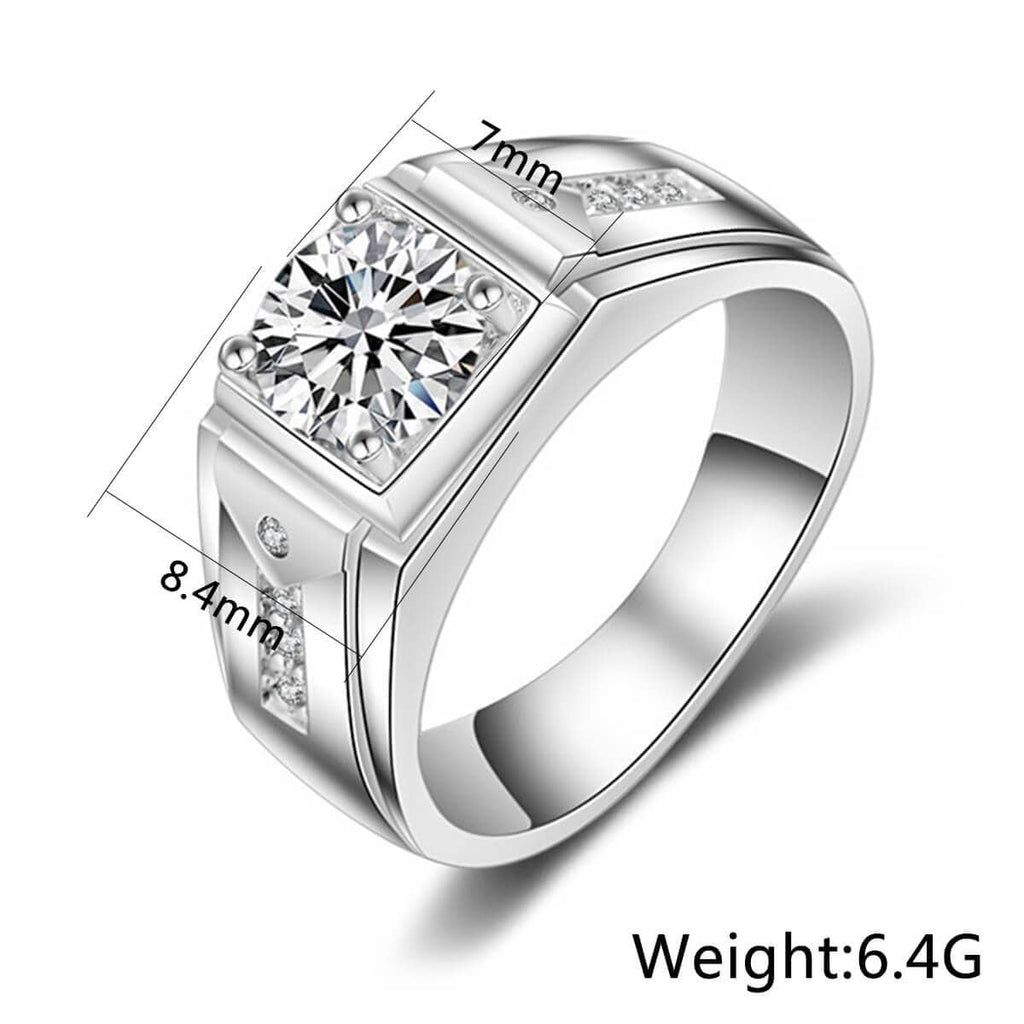 Couples Promise Rings Matching Set Sterling Silver Rings Set Cubic Zirconia White