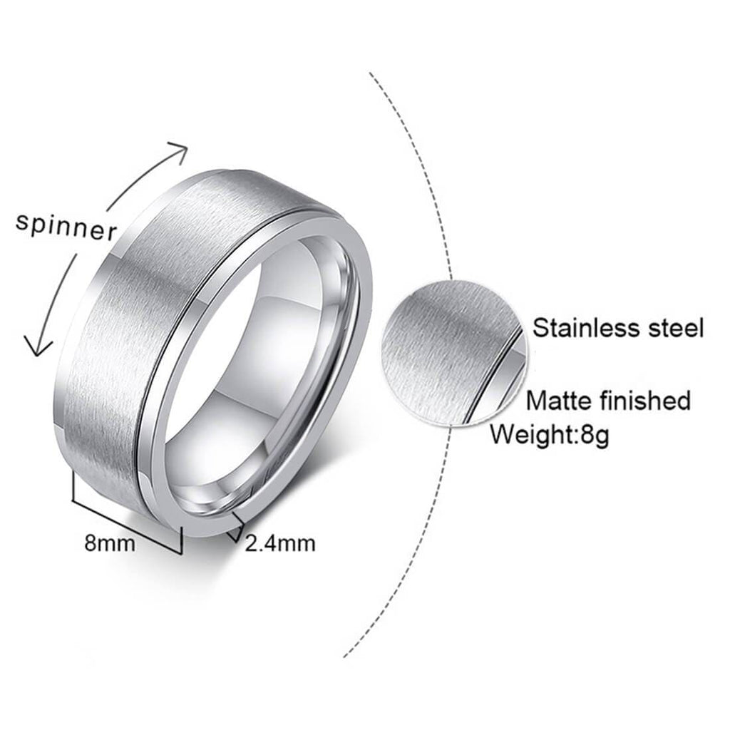 Wedding Rings Ladies Male Stainless Steel White Zircon Stones White