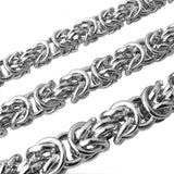 Silver Necklace Mens Stainless Steel Chunky Necklace 60CM, 6MM/8MM/10MM