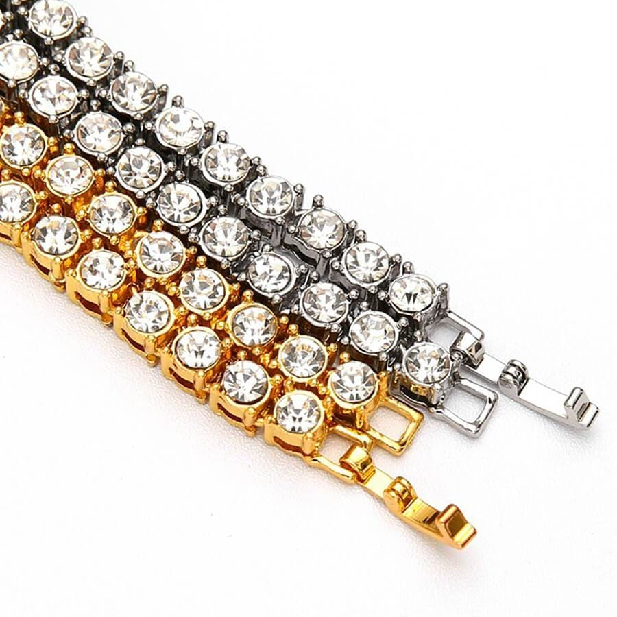 Necklace Chain Design for Men Gold Plated Crystal Necklace Silver Gold 60/75cm