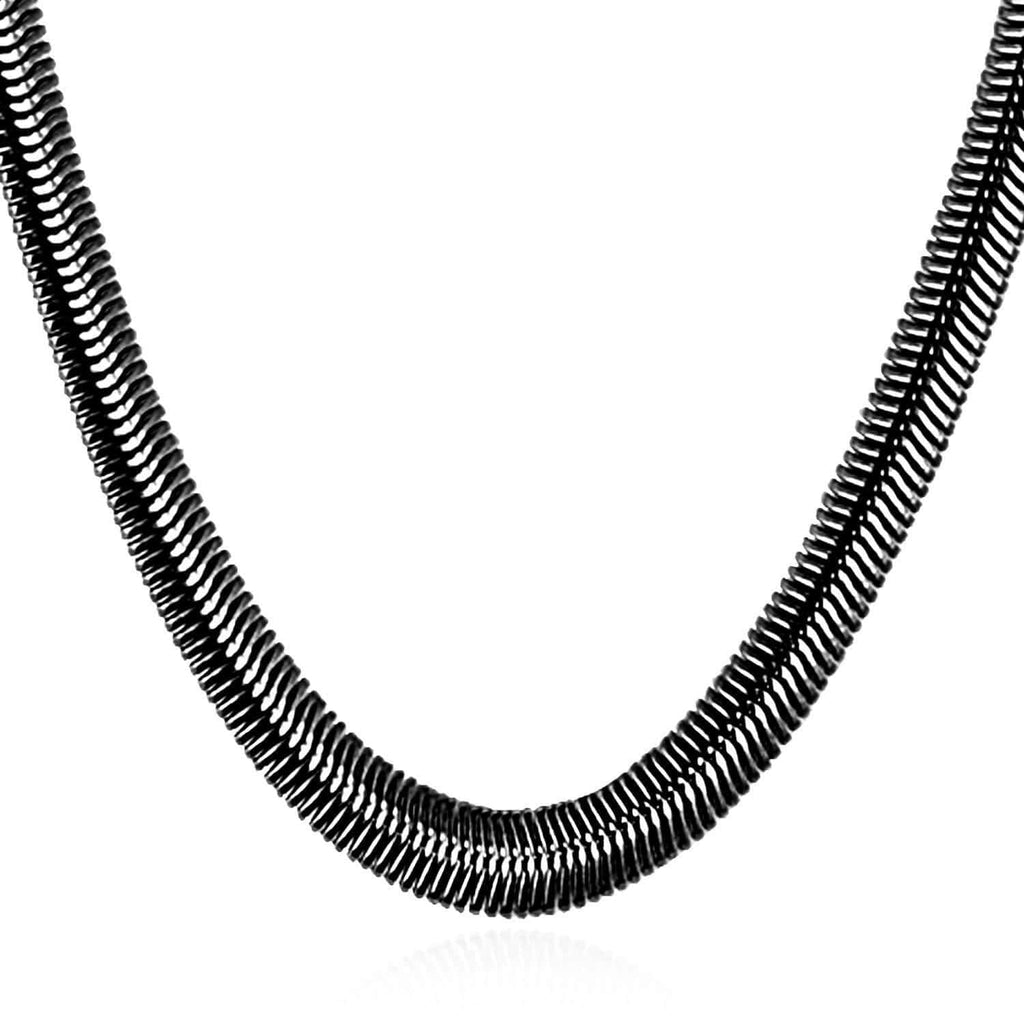Men Snake Necklace Silver Gold Stainless Steel Chain Necklace Jewelry 8MM