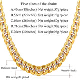 Men Necklace Chain Gold Gold Plated Hiphop Necklace 9MM Fashion