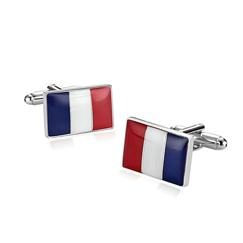 Blue Red Stripe Cufflink