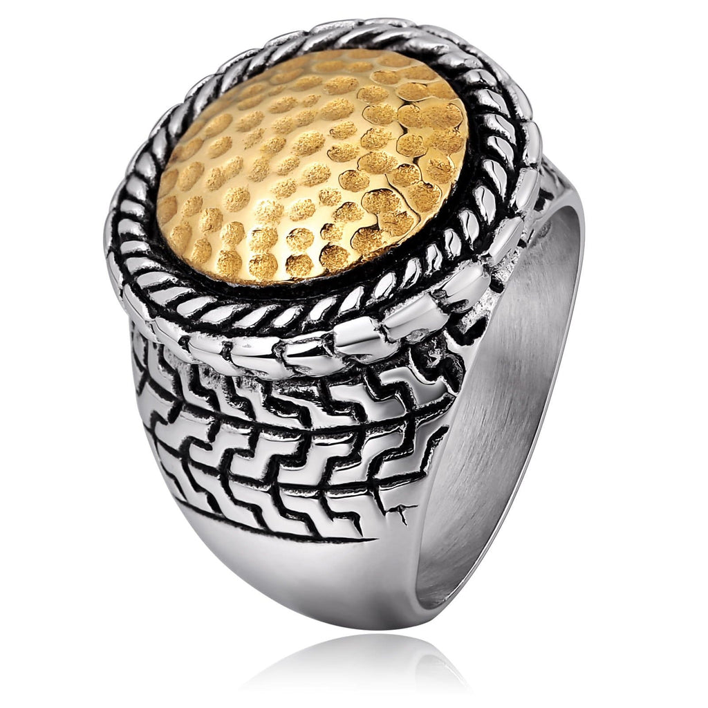Thumb Ring for Men Stainless Steel Silver Round Shape