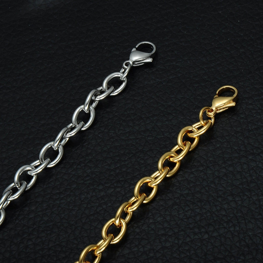 Medic Alert Bracelet Gold Stainless Steel Bracelets Valentines Day Rolo Chain Tag Medical Signs