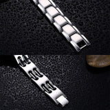 Emergency Bracelet Women Stainless Steel Bracelets Valentines Day Metal Bar Medical Signs