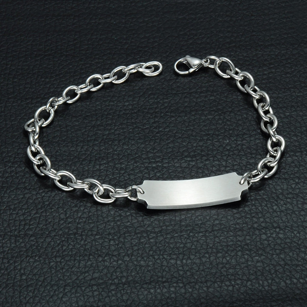 Id Medical Bracelet for Women Bracelets Stainless Steel Women Rolo Chain Tag Medical Signs