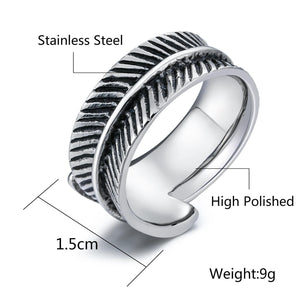 Men Rings Stainless Steel Thumb Rings for Boys Polished Silver Gold Size 7-12